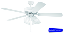 "Craftmade E203W - Pro Builder 203 52"" Ceiling Fan with Light in White (Blades Sold Separately)"