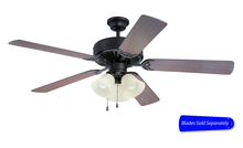 "Craftmade E206AG - Pro Builder 206 52"" Ceiling Fan with Light in Aged Bronze Textured (Blades Sold Separately)"