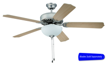 "Craftmade E207BN - Pro Builder 207 52"" Ceiling Fan with Light in Brushed Satin Nickel (Blades Sold Separately)"