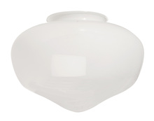 "Craftmade K068 - 4"" Fan Glass, Schoolhouse Shaped in White"