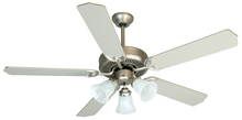 "Craftmade K10422 - Pro Builder 205 52"" Ceiling Fan Kit with Light Kit in Brushed Satin Nickel"