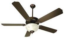 "Craftmade K10434 - Pro Builder 207 52"" Ceiling Fan Kit with Light Kit in Oiled Bronze"