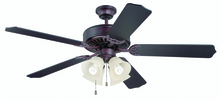 "Craftmade K11110 - Pro Builder 204 52"" Ceiling Fan Kit with Light Kit in Oiled Bronze"