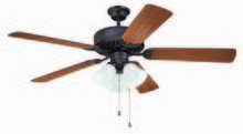 "Craftmade K11111 - Pro Builder 205 52"" Ceiling Fan Kit with Light Kit in Aged Bronze Brushed"