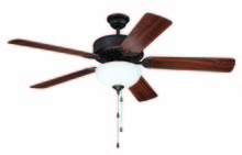 "Craftmade K11119 - Pro Builder 207 52"" Ceiling Fan Kit with Light Kit in Aged Bronze Brushed"