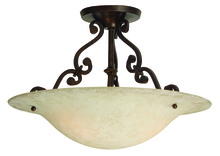 Craftmade X1816-AG - Toscana 3 Light Semi Flush in Aged Bronze