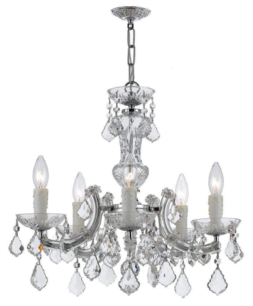 Crystorama maria theresa 5 light chrome mini chandelier 4376 ch cl crystorama maria theresa 5 light chrome mini chandelier aloadofball Choice Image