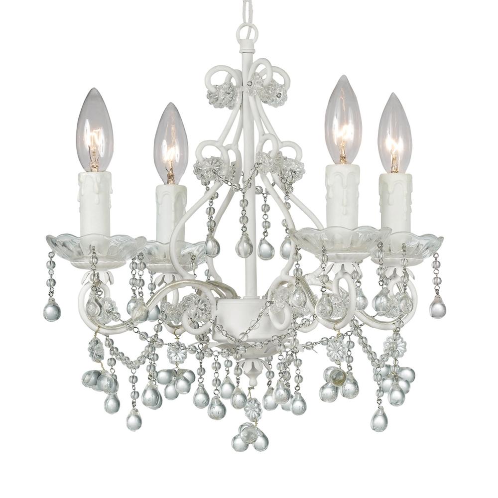 Crystorama paris market 4 light clear crystal white mini chandelier crystorama paris market 4 light clear crystal white mini chandelier aloadofball Gallery