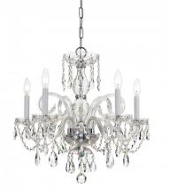 Crystorama 1005-CH-CL-MWP - Crystorama Traditional Crystal 5 Light Crystal Chrome Chandelier I