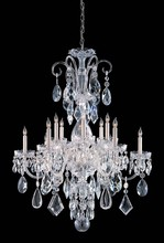 Crystorama 1045-CH-CL-MWP - Crystorama Traditional Crystal 12 Light Clear Crystal Chrome Chandelier I
