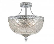 Crystorama 118-8-CH - Crystorama 2 Light Chrome Crystal Ceiling Mount II