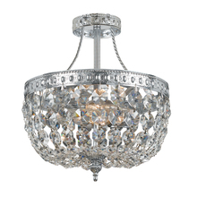 Crystorama 119-10-CH-CL-MWP - Crystorama 3 Light Hand Cut Clear Crystal Chrome Ceiling Mount