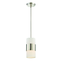 Crystorama 290-PN - Libby Langdon for Crystorama Grayson 1 Light Polished Nickel Pendant