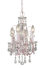 Crystorama 3224-BH-CL-MWP - Crystorama Imperial 4 Light Clear Crystal Blush Mini Chandelier