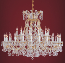 Crystorama 4308-GD-CL-SAQ - Crystorama 37 Light Gold Spectra Crystal Chandelier