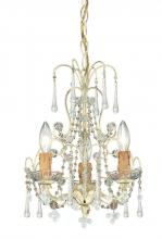 Crystorama 4523-CM - Crystorama Paris Market 3 Light Champagne Mini Chandelier II
