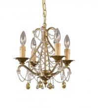 Crystorama 4714-GL - Crystorama Abigail 4 Light Gold Leaf Mini Chandelier I