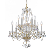 Crystorama 5080-PB-CL-MWP - Crystorama Traditional Crystal 10 Light Clear Crystal Brass Chandelier V