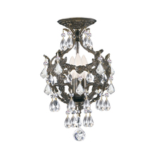 Crystorama 5193-EB-CL-MWP_CEILING - Legacy 3 Light Clear Crystal Bronze Ceiling Mount