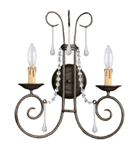 Crystorama 5202-DR-CL-MWP - Crystorama Soho 2 Light Clear Crystal Rust Sconce