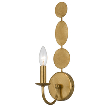 Crystorama 541-GA - Crystorama Layla 1 Light Antique Gold Sconce