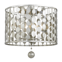 Crystorama 544-SA - Crystorama Layla 3 Light Antique Silver Ceiling Mount