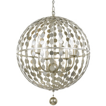 Crystorama 547-SA - Crystorama Layla 6 Light Antique Silver Chandelier