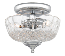 Crystorama 55-SF-CH - Crystorama 2 Light Polished Chrome Small Ceiling Mount