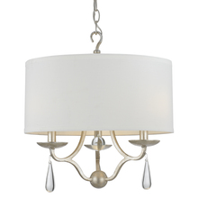 Crystorama 5973-SL - Crystorama Manning 3 Light Silver Leaf Chandelier