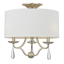 Crystorama 5973-SL_CEILING - Crystorama Manning 3 Light Silver Leaf Ceiling Mount