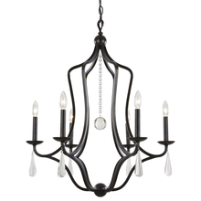 Crystorama 5976-EB - Crystorama Manning 6 Light Bronze Leaf Chandelier