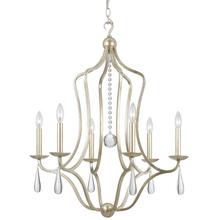 Crystorama 5976-SL - Crystorama Manning 6 Light Silver Leaf Chandelier