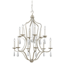 Crystorama 5978-SL - Crystorama Manning 12 Light Silver Leaf Chandelier