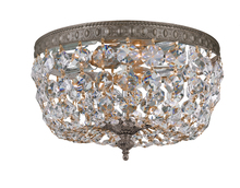 Crystorama 710-EB-CL-I - Crystorama 2 Light Clear Italian Crystal Bronze Ceiling Mount