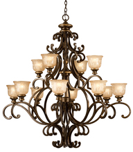Crystorama 7412-BU - Crystorama Norwalk 12 Light Bronze Umber Chandelier