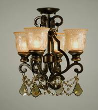 Crystorama 7504-BU-GTS_CEILING - Crystorama Norwalk 4 Light Golden Teak Swarovski Strass Crystal Bronze Ceiling Mount