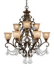 Crystorama 7509-BU-CL-MWP - Crystorama Norwalk 9 Light Clear Crystal Bronze Umber Chandelier
