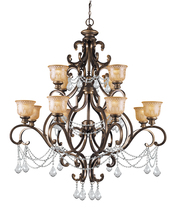 Crystorama 7512-BU-CL-I - Crystorama Norwalk 12 Light Clear Italian Crystal Chandelier
