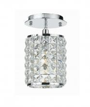 Crystorama 800-CH-CL-MWP - Crystorama Chelsea 1 Light Crystal Chrome Semi-Flush