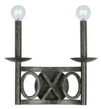 Crystorama 9242-EB - Crystorama Odette 2 Light English Bronze Sconce II