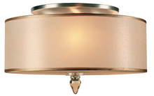 Crystorama 9503-AB - Crystorama Luxo 3 Light Drum Shade Brass Flush Mount