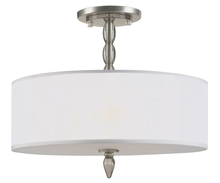 Crystorama 9505-SN - Crystorama Luxo 3 Light Nickel Drum Shade Chandelier