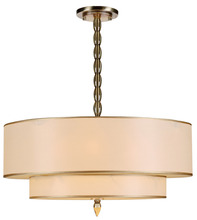 Crystorama 9507-AB - Crystorama Luxo 5 Light Drum Shade Brass Chandelier