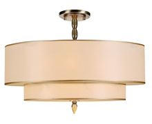 Crystorama 9507-AB_CEILING - Crystorama Luxo 5 Light Brass Semi-Flush