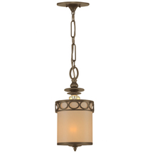 Crystorama 9600-AB - Crystorama Eclipse 1 Light Brass Pendant