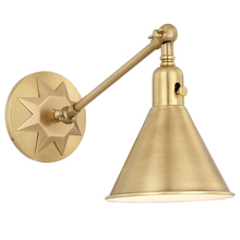 Crystorama MOR-8800-AG - Morgan 1 Light Aged Brass Sconce
