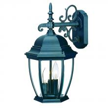 Acclaim Lighting 5032BK - Wexford Collection Wall-Mount 3-Light Outdoor Matte Black Light Fixture