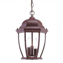 Acclaim Lighting 5036BW - Wexford Collection Hanging Lantern 3-Light Outdoor Burled Walnut Light Fixture