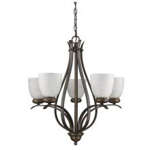 Acclaim Lighting IN11286ORB - Alana Indoor 5-Light Chandelier W/Glass Shades In Oil Rubbed Bronze