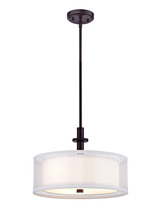Dolan Designs 1274-30 - Double Organza 3 lt pendant Royal Bronze